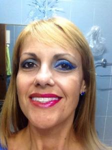 make de Carnaval Azul 1